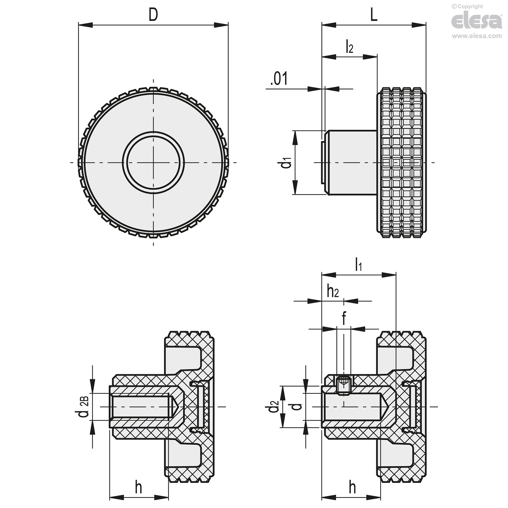 Mbt B Inch Sizes Diamond Cut Knurled Knobs How Parallel And Series Hydraulic Circuit Works Youtube Brass Boss