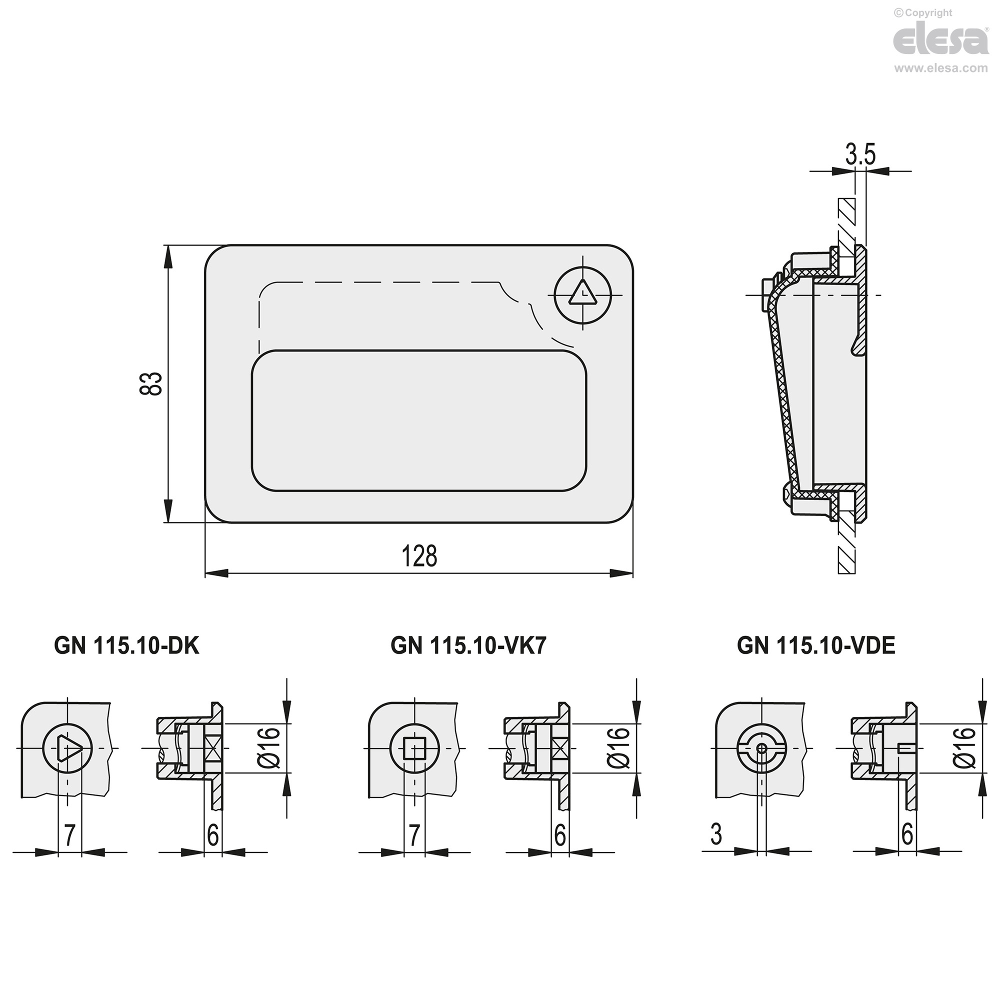 Gn 11510 Flush Pull Handles With Lever Latch Latching Circuit Diagram