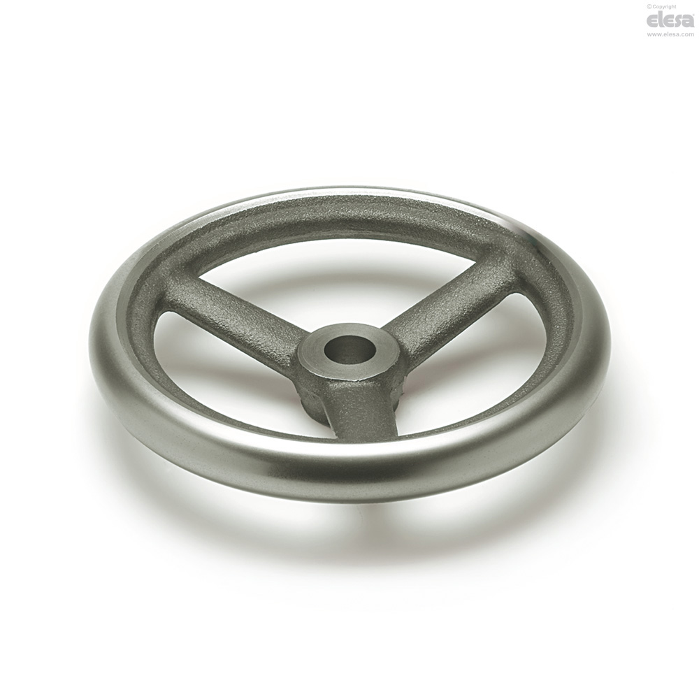 made of cast iron diameter 315mm corona turned and polished Spoked handwheel DIN 950 type B//A without thread hole 5 spokes