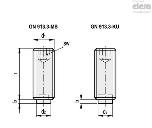 GN 913 3 | Grub screws | Elesa