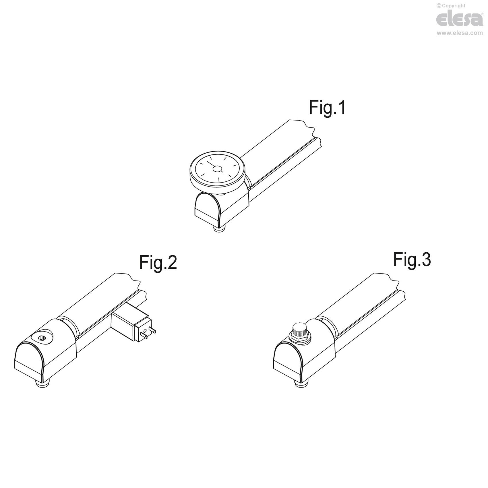 Elesa 111011-NP Column Level Indicators Without Transparent Front Protection Transparent Technopolymer Tube Aluminum Support Hck-Np Model 6.46 x 1.3 x 2.09