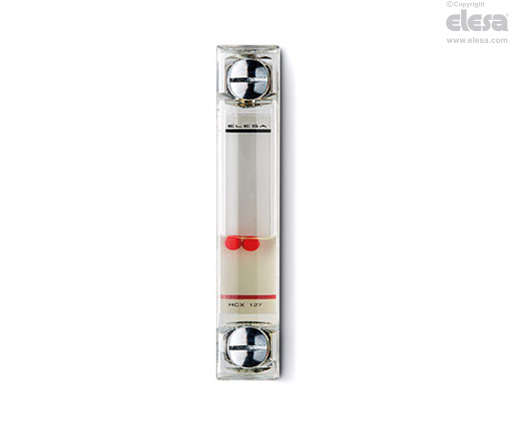 Elesa 111371 Column Level Indicator Without Thermometer HCX//T-VT Model 11.46 x 1.38 x 1.54 Transparent Technopolymer Aluminum Contrast Screen