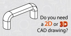 Do you need 2D or 3D CAD drawings? Lift & Pull handles